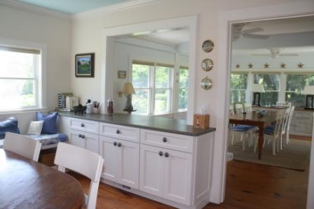 Houzz users loved the pass through from this kitchen to dining room.
